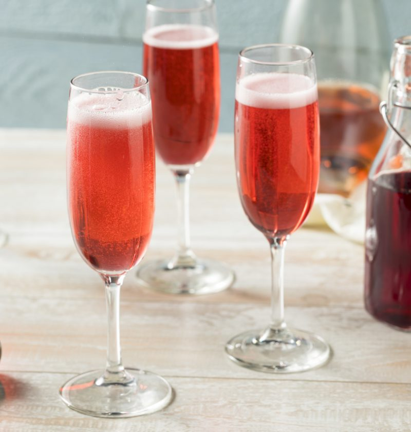 Kir Royal drink